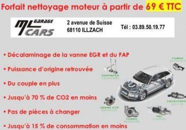 Nouveau service nettoyage moteur à l'hydrogène