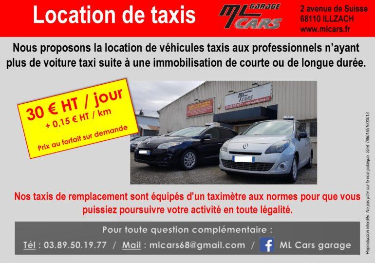 Location d taxi à Illzach près de Mulhouse par le garage ML CARS