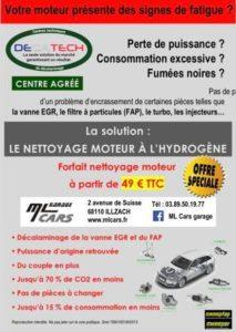 GARAGE ML CARS - NETTOYAGE MOTEUR A L'HYDROGENE JUIN 2020 - 68 ILLZACH PRES DE MULHOUSE